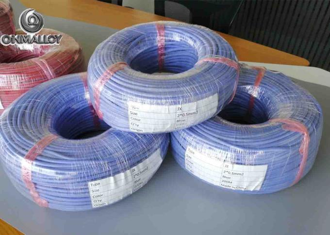 Multi Cores Silicone Rubber Type J Thermocouple Wire Insulated -10-200°C