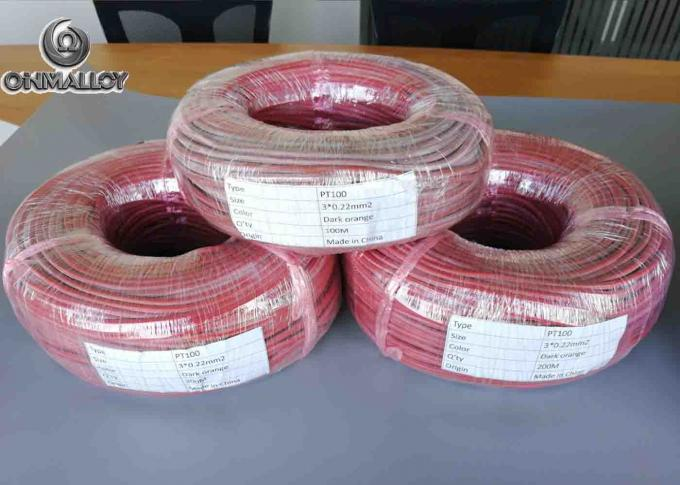 Type RTD PT100 Thermocouple Wire And Cable 3 Cores Multi Strands