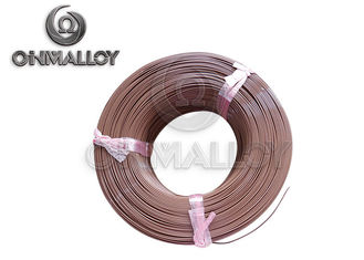 PTFE insulation Thermocouple Cable Type T 24 AWG 20 AWG Brown Color