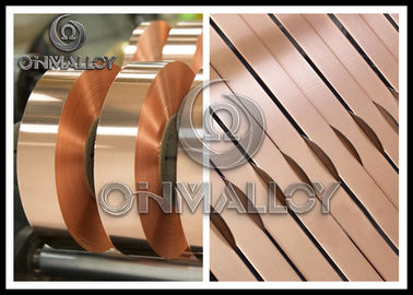 0.005mm~1mm thickness,Power Transformers Pure Copper Strip Elongation Good Corrosion - Resistance,bright surface