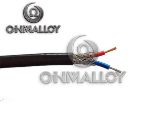 China 0.51mm Type K High Temperature Thermocouple Wire Fiberglass / Stainless Steel Braid supplier