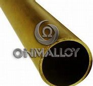 China ASTM Standard C72900 Copper Based Alloys Brass Tube / Pipe For Water Heater supplier