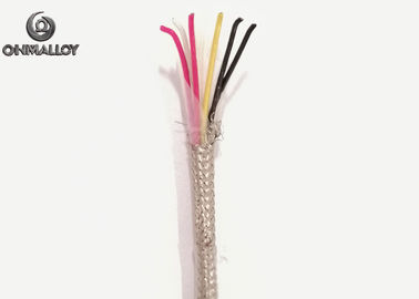 China RTD PT100 Nickel Pleated Copper Extension Cable PFA Insulated SUS Sheath 6 Cores 2 Pairs supplier
