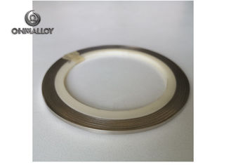 China Flat Ni200 /Ni201 Pure Nickel Wire 8mm Width For Nickel Connector Bright Surface supplier