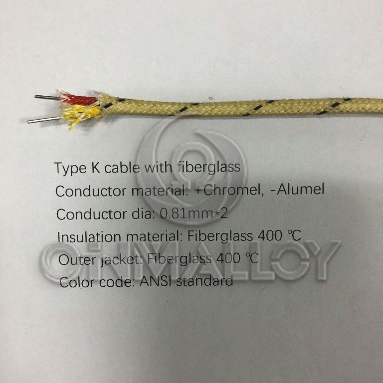 Molded Connectors With Thermocouple Extension Cables : High temperature type k thermocouple extension cables