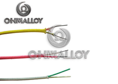 China 28 AWG K Type Thermocouple Cable Vitreous Silica Insulated 800 Degree C factory
