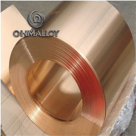China Mechanical Resistance Pure Copper Foil C11000 C1221 0.1mm - 1.2mm Thickness For Electric Springs factory