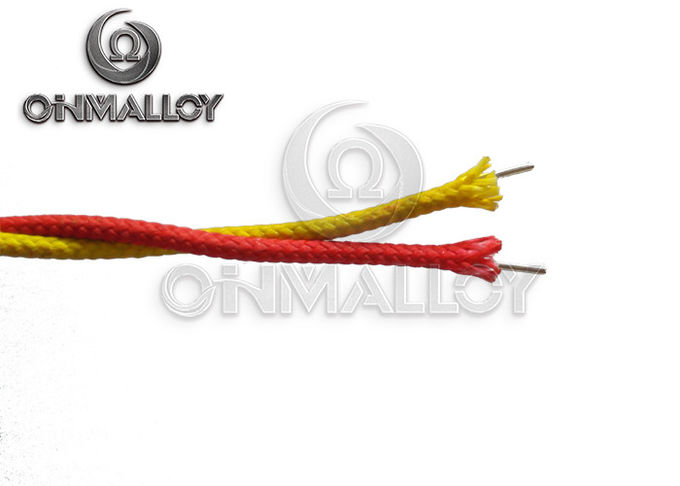 Fiberglass Insulation Material Type K Extension Cable  24 Awg Brown / Yellow / Red