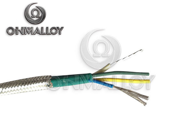 18 , 20 AWG Thermocouple Cable Type K With Fiberglass Insulation