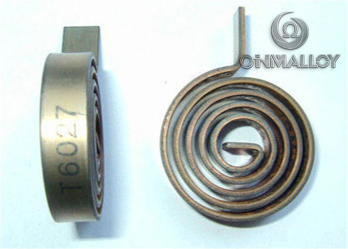 Temperature sensing device for automobile clutch with Bimetal Kanthal 155 strip 1.0mm
