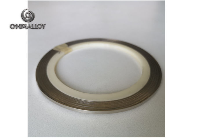 Flat Ni200 /Ni201 Pure Nickel Wire 8mm Width For Nickel Connector Bright Surface
